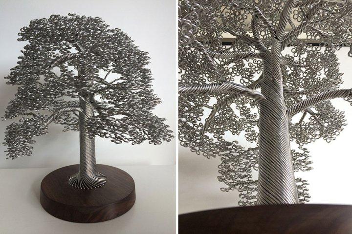 скульптуры деревьев из проволоки клайв мэдиссон (6)