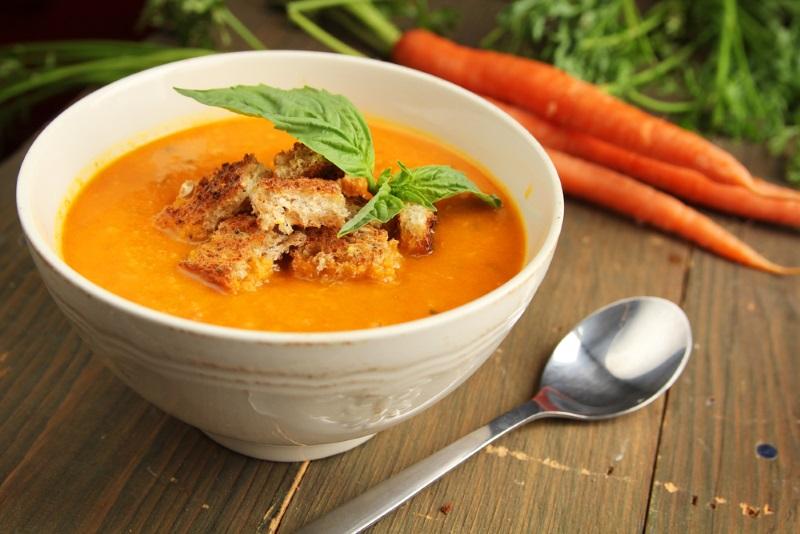 крем суп в блендере