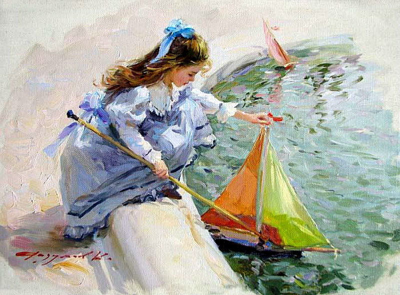Детство в картинах Константина  Разумова
