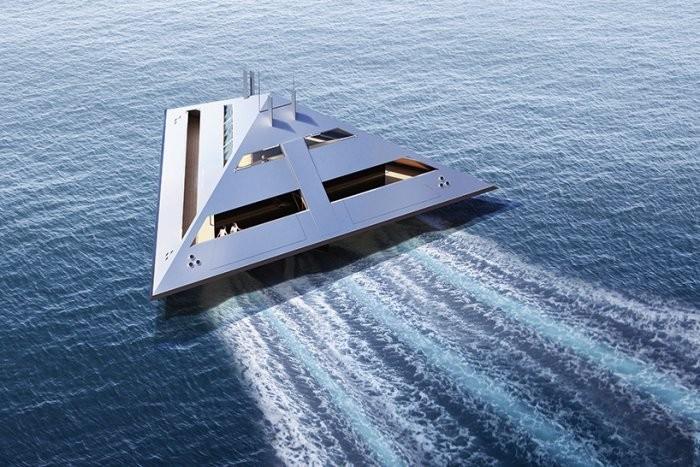 """Концепт """"парящей"""" яхты будущего"""