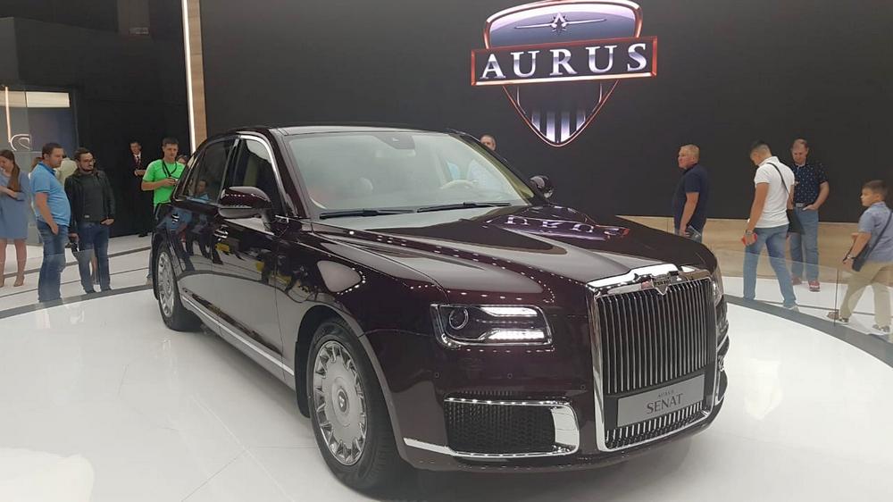 Россия представила автомобили Aurus на 89-м Женевском автосалоне