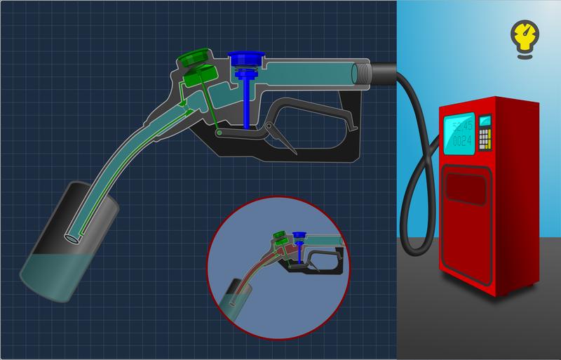 Как пистолет на заправке «узнает», что бензобак полон?