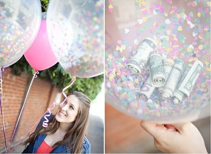 Подарок с шариками своими руками