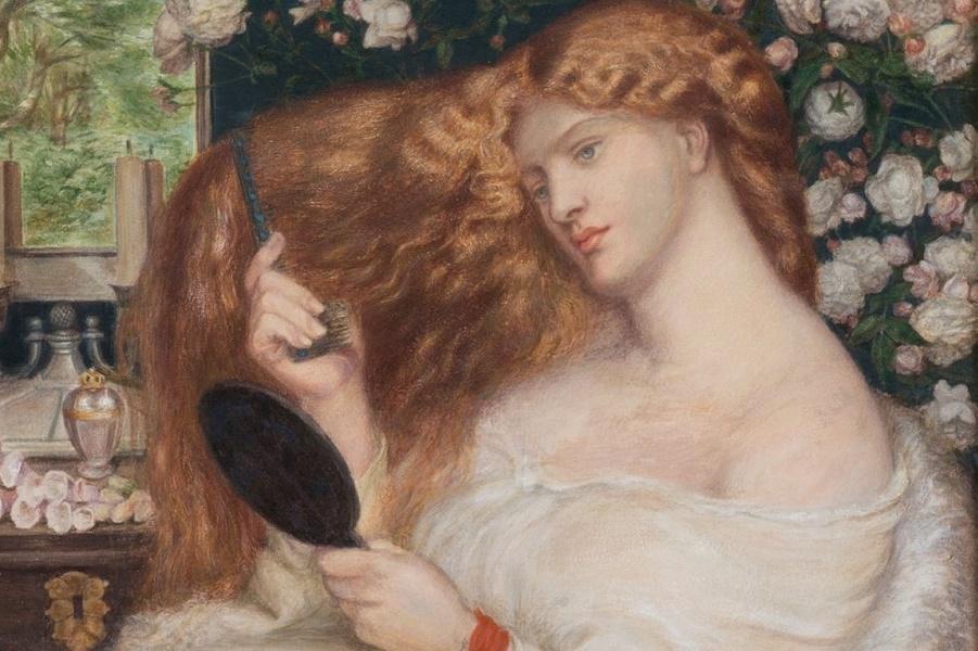 Акварельный портрет длинноволосой музы