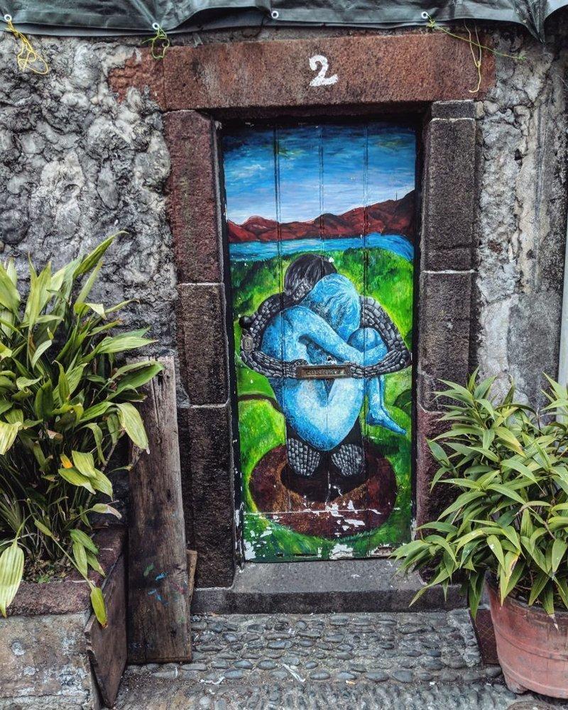 7. дверь, картина, мадейра, португалия, путешествие, фотография, фотомир