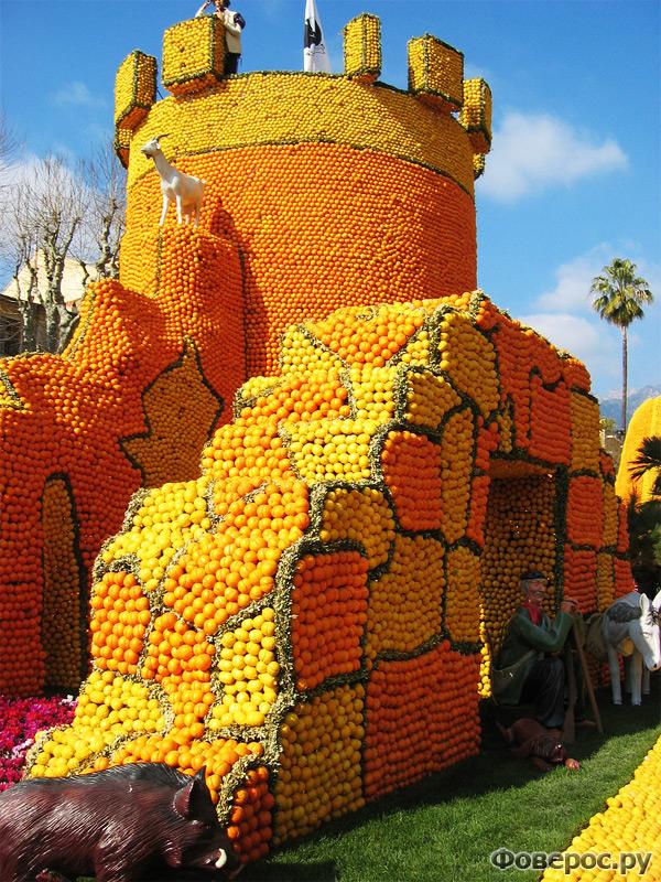 Цитрусовый фестиваль в Ментоне (Франция) - Замок из апельсинов и лимонов