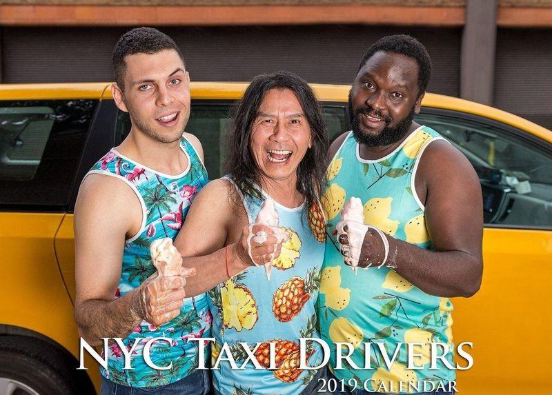Антигламурный календарь таксистов Нью-Йорка
