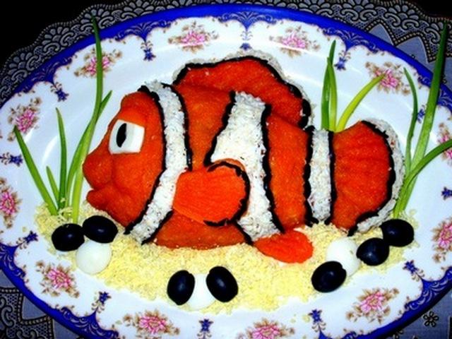 Рецепт рыбного салата с