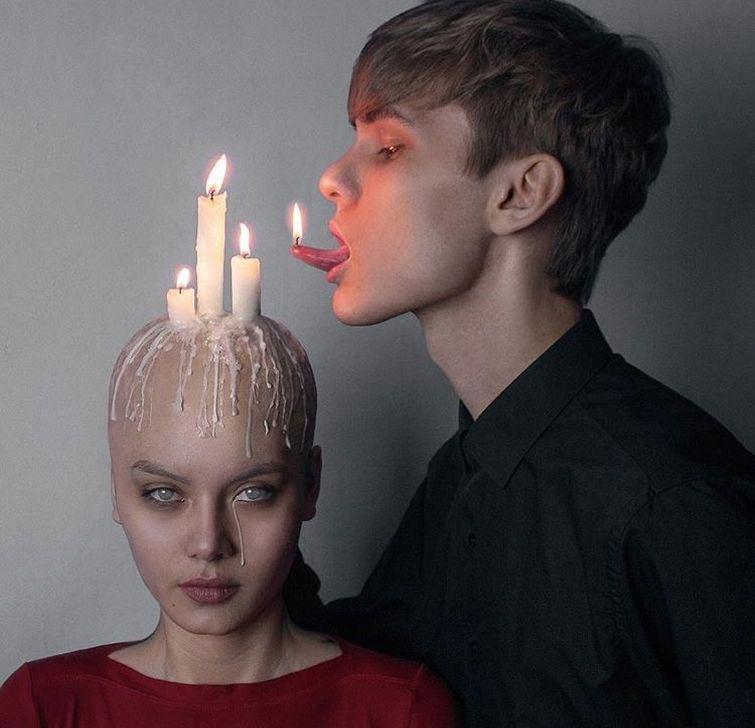 Русский парень создает тёмное сюрреалистическое искусство