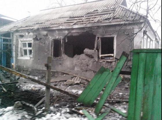 Донецк, разрушения
