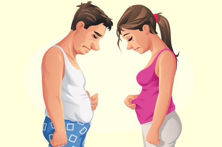 Симптомом каких заболеваний может быть внезапный набор веса