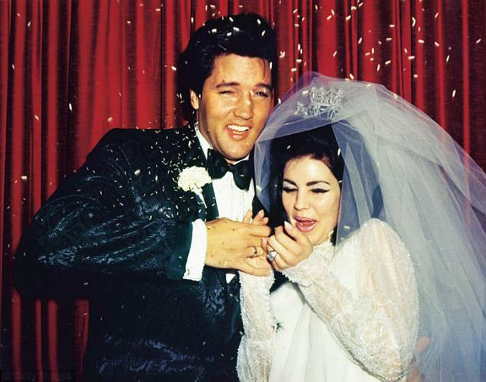 1 мая 1967 года Алладин Отель в Лас Вегасе. Свадьба Элвиса и Присциллы.