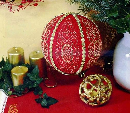 Схема к новогодней вышивке — «Елочные шары»