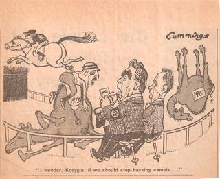 Карикатуры на Брежнева и советских руководителей в иностранной прессе