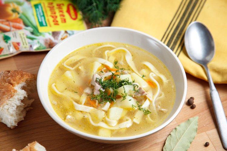 Куриный суп с домашней лапшой пошаговый рецепт