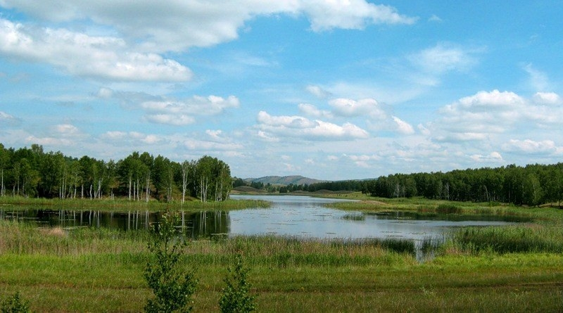 Россия, республика Башкортостан, озеро Карагайкуль