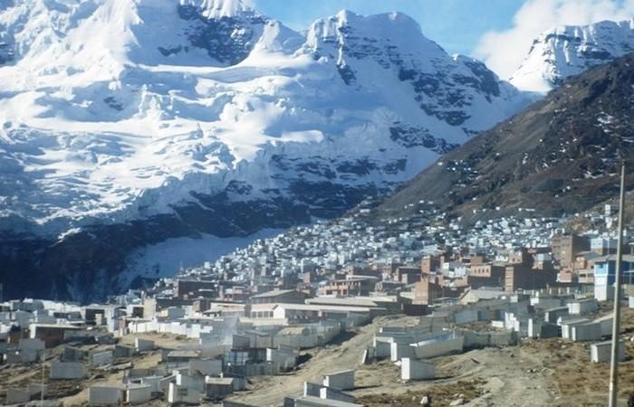Перуанский город Ла-Ринконада.