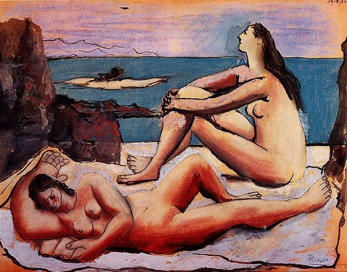 Пабло Пикассо. Три купальщицы 3. 1920 год