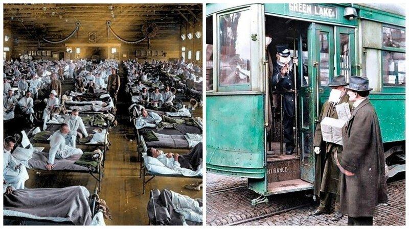 Америка вовремя эпидемии испанки: впервые вцвете