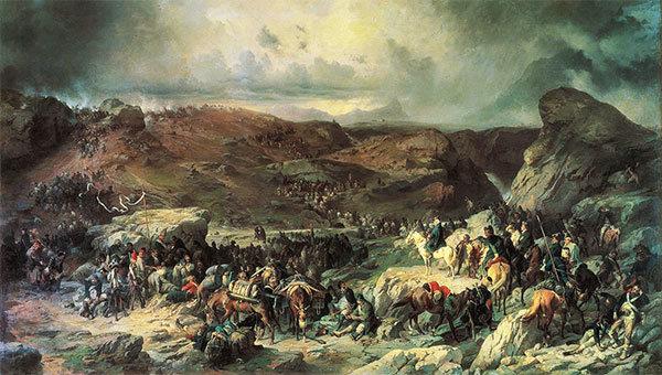 А. Коцебу. Переход войск Суворова через Сен-Готард
