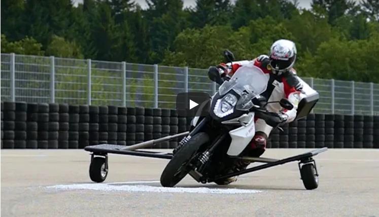 Bosch придумал, как можно спасти мотоцикл от падения
