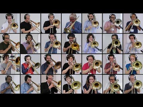 «Богемская рапсодия» на 28 тромбонах