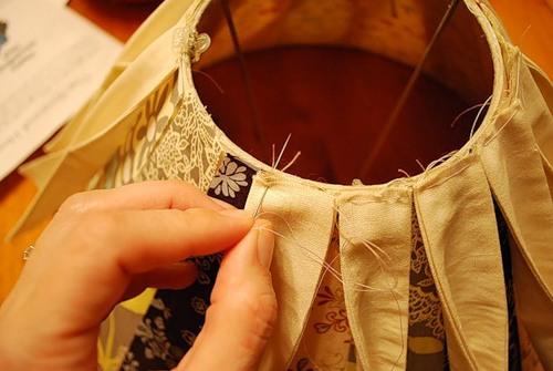 Абажур из ткани для торшера мастер класс