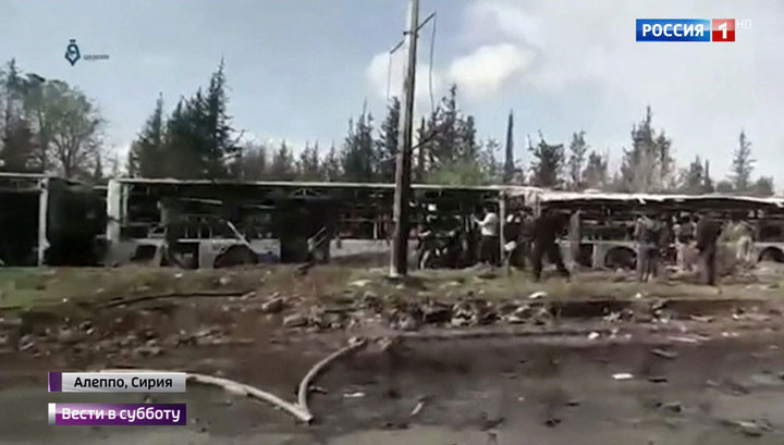 Выжженная земля и трупы: появилось видео с места подрыва автобусов