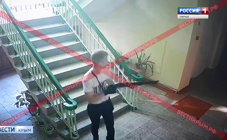 «Вести» показали кадры с расстрелом в керченском колледже