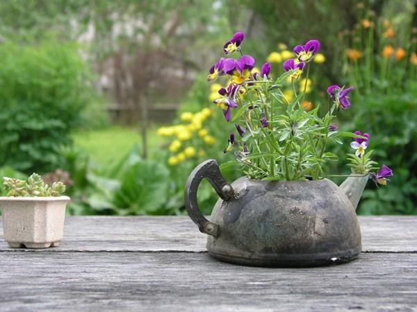 Красивые кашпо для цветов своими руками для дачи