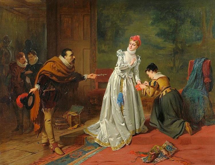 Художник Edward Charles Barnes (1830 – 1882). Мастер романтического женского образа