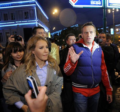 Ксения СОБЧАК, Алексей НАВАЛЬНЫЙ. Фото: РИА