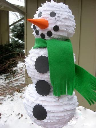 Мастер-класс: Снеговик из гофрированной бумаги с сюрпризом