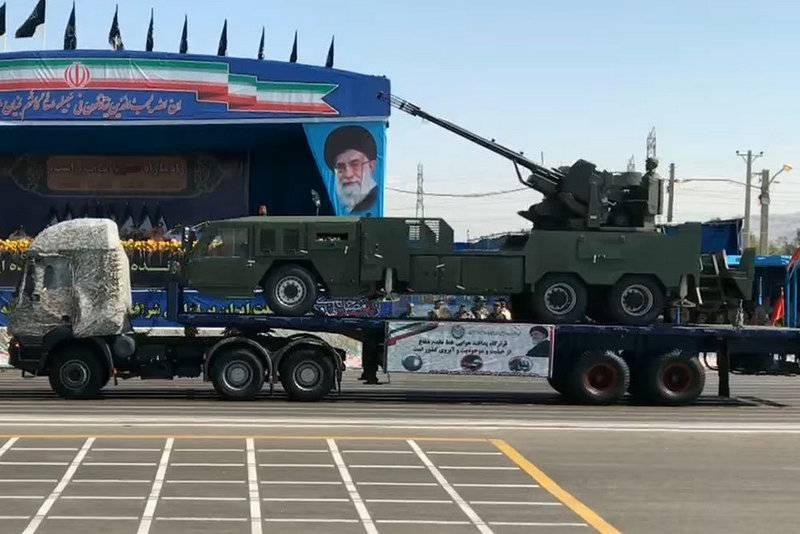 Иран показал новую зенитную самоходную установку