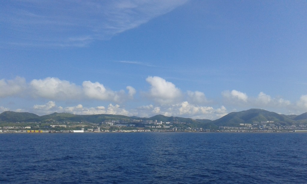 Синее море, синее небо, а посередине остров Сахалин