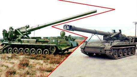 Битва тяжеловесов: российский «Пион» против американской M110A2
