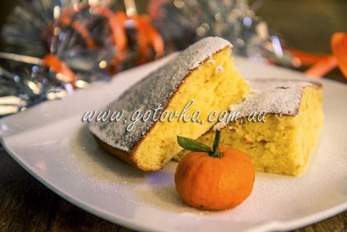 Кекс с вареным апельсином