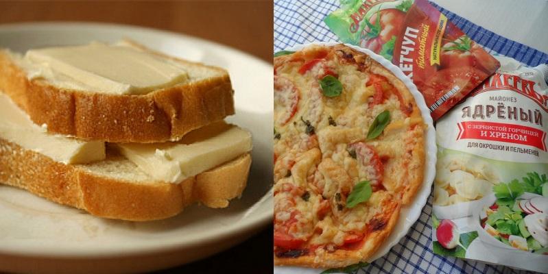 бутерброд с маслом картинка