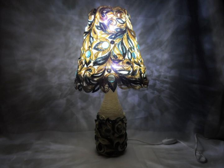 Джутовая филигрань. Шкатулка и светильник