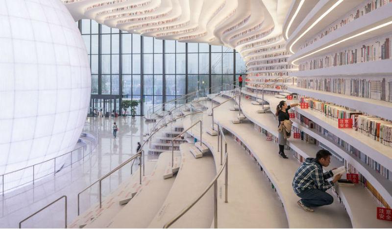 В Китае открыли инопланетную библиотеку, вмещающую 1,2 миллиона книг