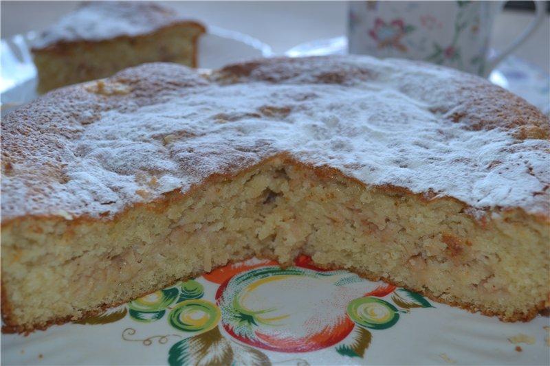 Яблочный пирог с овсяной мукой