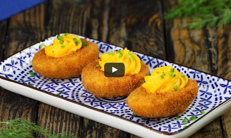 Фаршированные яйца во фритюре: это что-то новенькое!