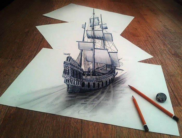 Потрясающие карандашные 3D-рисунки от Paul Grendly