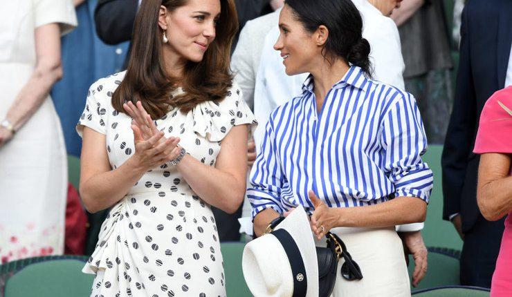 Не остались безо внимания — модные образы Кейт Миддлтон и Меган Маркл на финале Уимблдона