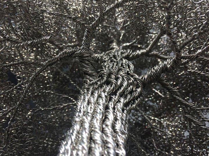 скульптуры деревьев из проволоки клайв мэдиссон (5)