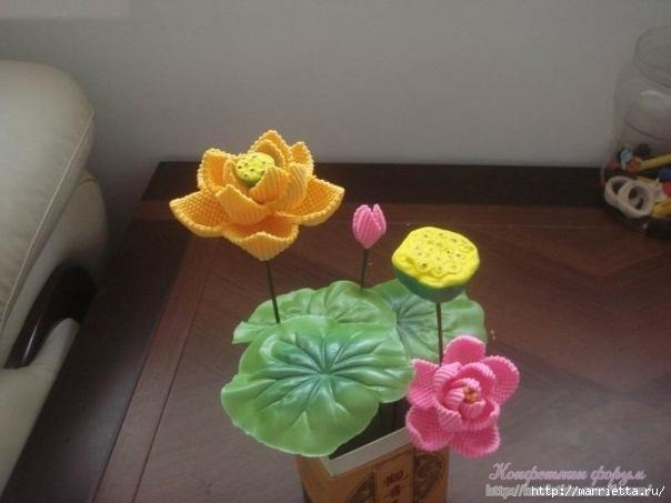 Цветы в технике китайского макраме (15) (604x453, 115Kb)