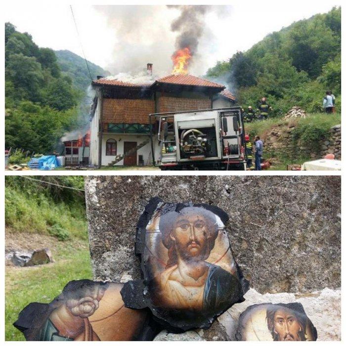 На пожаре в монастыре сгорел…