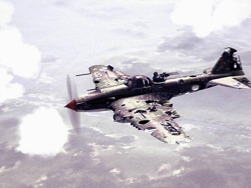 Ил-2 возвращается с боевого вылета