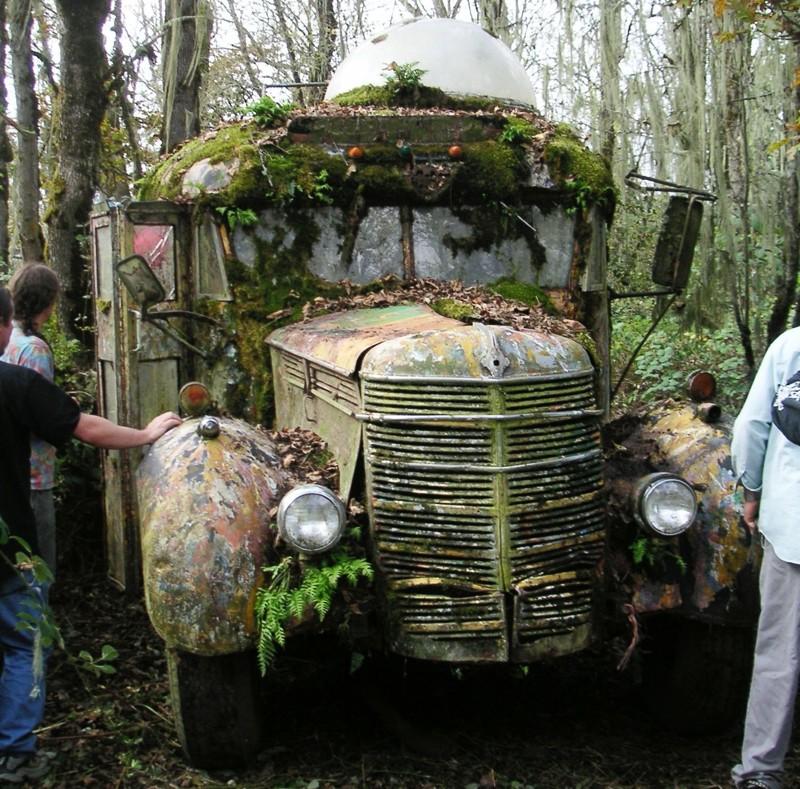 Фургон, США заброшенное, красиво, мир без людей, природа берет свое, фото, цивилизация
