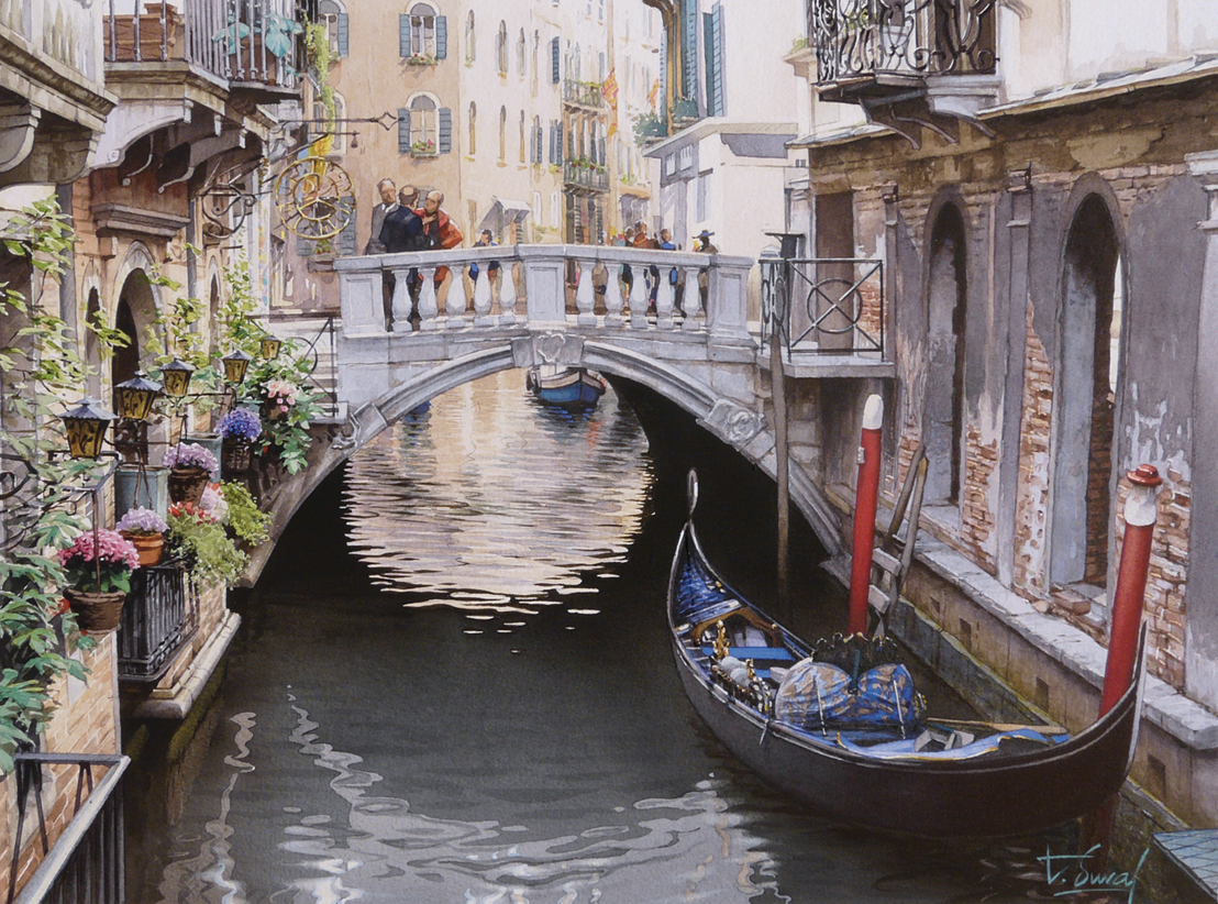 Венеция в акварелях Тьерри Дюваля